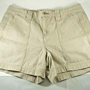 Tommy Hilfiger Casual Shorts Sz 8 Petite Kakhi Tan